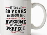 Birthday Present for 80 Year Old Man Amazon Com 80th Birthday Gifts for Women Eighty Years Old