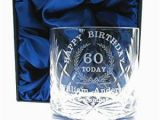 Birthday Present for Him Uk 60th Birthday Whisky Glass for Him Personalised 60th