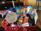 Birthday Present Ideas for Boyfriend 20th Boyfriend Birthday Basket 26 Of His Favorite Things for