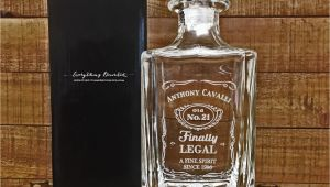 Birthday Present Man 45 21st Birthday Gift Finally Legal Custom Engraved Glass