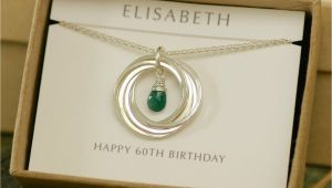 Birthday Presents for Mens 60th 60th Birthday Gift for Mum Gift for Women Emerald Necklace