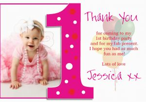 Birthday Thank You Cards With Photo 1st Quotes For Quotesgram