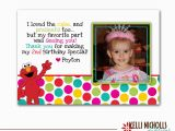 Birthday Thank You Cards with Photo Elmo Photo Birthday Thank You Card Girl by