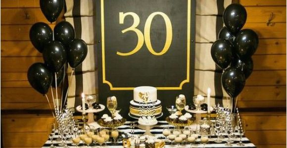 Black and Gold 30th Birthday Decorations 23 Cute Glam 30th Birthday Party Ideas for Girls Shelterness