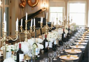 Black And Gold 30th Birthday Decorations Party Style Me Pretty Living