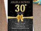 Black and Gold 30th Birthday Invitations 10 Personalised Black Gold Birthday Party Invitations N193