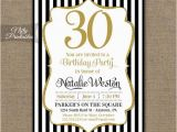 Black and Gold 30th Birthday Invitations 30th Birthday Invitations Black Gold Glitter 20th 30th