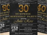 Black and Gold 30th Birthday Invitations Fabulous 30th Black and Gold Birthday Party by