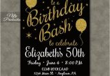 Black and Gold 30th Birthday Invitations Printable Birthday Invitations Black Gold Glitter 20 21 30th
