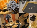 Black And Gold 50th Birthday Party Decorations 20 S Theme Celebration Kustom