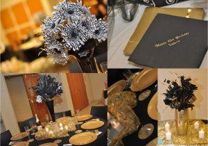 Black And Gold 50th Birthday Party Decorations 20 S Theme Celebration Kustom