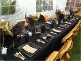 Black and Gold 50th Birthday Party Decorations Black Gold Birthday Party Ideas Photo 1 Of 16 Catch
