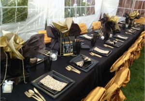 Black And Gold 50th Birthday Party Decorations Ideas Photo 1 Of 16