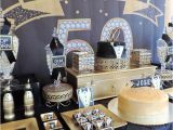 Black and Gold 50th Birthday Party Decorations Kara 39 S Party Ideas Fabulous 50th Black Gold Birthday