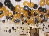 Black and Gold 60th Birthday Decorations Black and Gold Party Centerpieces 60th Birthday Balloons
