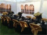 Black and Gold 60th Birthday Decorations Black Gold Birthday Party Ideas Photo 1 Of 16 Catch