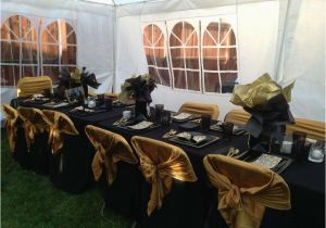 Black And Gold 60th Birthday Decorations Party Ideas Photo 1 Of 16 Catch