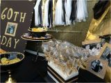 Black and Gold 60th Birthday Decorations Black Gold Birthday Party Ideas Photo 5 Of 16 Catch