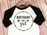 Black and Gold Birthday Girl Shirt Birthday Girl Black and Gold Sparkle Raglan Shirt Baby Raglan