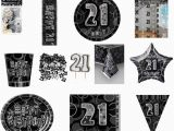 Black and Silver 21st Birthday Decorations Black and Silver Glitz 21st Birthday Party Decorations