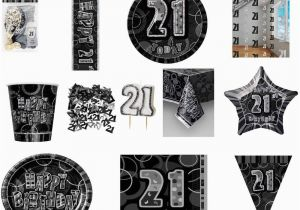 Black And Silver 21st Birthday Decorations Glitz Party
