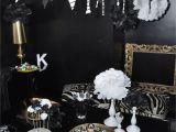 Black and Silver 21st Birthday Decorations Black White Birthday Karroyal