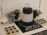 Black and Silver 21st Birthday Decorations Little Big Company the Blog A Black and Silver themed