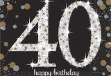 Black and Silver 40th Birthday Decorations 16 X Black Age 40 Napkins Black Gold Silver 40th Birthday