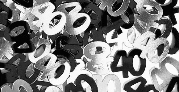 Black and Silver 40th Birthday Decorations Black and Silver 40th Birthday Decorations Criolla