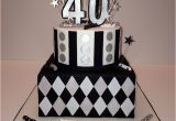 Black and Silver 40th Birthday Decorations Black Silver and White 40th Birthday Cake My 40th Ideas