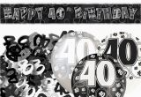 Black and Silver 40th Birthday Decorations Black Silver Glitz 40th Birthday Banner Party Decoration