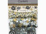 Black and Silver 50th Birthday Decorations 50th Birthday Confetti Table Decoration Sprinkle Black