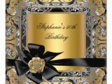 Black and Silver 50th Birthday Decorations 50th Birthday Party Gold Silver Black Bow 5 25×5 25 Square
