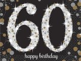 Black and Silver 60th Birthday Decorations 16 X Black Age 60 Napkins Black Gold Silver 60th Birthday