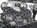 Black and Silver 60th Birthday Decorations 60 60th Birthday Black Silver Glitz Party Range Birthday