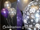 Black and Silver 60th Birthday Decorations 60th Birthday Balloon Party Decoration Purple Silver 15