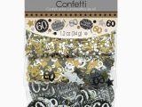Black and Silver 60th Birthday Decorations 60th Birthday Confetti Table Decoration Sprinkle Black