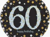 Black and Silver 60th Birthday Decorations 8 Gold Celebration Age 60 Paper Plates Silver Gold Black