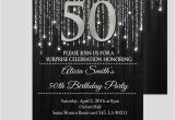 Black and Silver Birthday Invitations Black and Silver 50th Birthday Invitations Elegant 50th