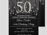 Black and Silver Birthday Invitations Black and Silver 50th Birthday Invitations Elegant 50th