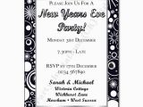 Black and Silver Birthday Invitations Black and Silver New Years Eve Party Invitation