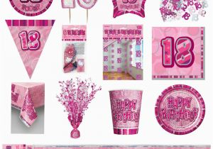 Black And White 18th Birthday Decorations Pink Glitz Party Supplies