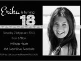 Black and White 18th Birthday Decorations Free Black and White Birthday Invitations Design Free