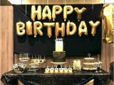Black and White 18th Birthday Decorations Navy and Gold Decorations Black and Gold Centerpieces