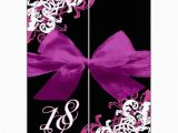 Black and White 18th Birthday Decorations ornamental Corner Pattern Gatefold 18th Invitations