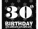 Black and White 30th Birthday Invitations 30th Birthday Party Black and White Stars W861 5 25×5 25