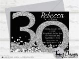 Black and White 30th Birthday Invitations Adult Birthday Invitations 40th Birthday 30th Birthday