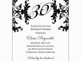 Black and White 30th Birthday Invitations Black and White Decorative Framed 30th Birthday