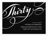 Black and White 30th Birthday Invitations Black Elegant 30th Birthday Invitations 5 5 Quot X 7 5