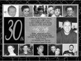 Black and White 30th Birthday Invitations Men 39 S 30th Birthday Invitation Classic Modern Black White